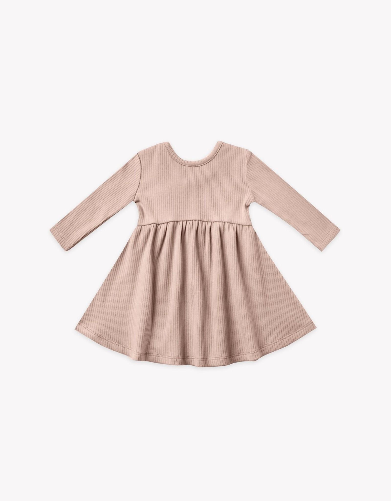Quincy Mae Quincy Mae Ribbed Longsleeve Dress