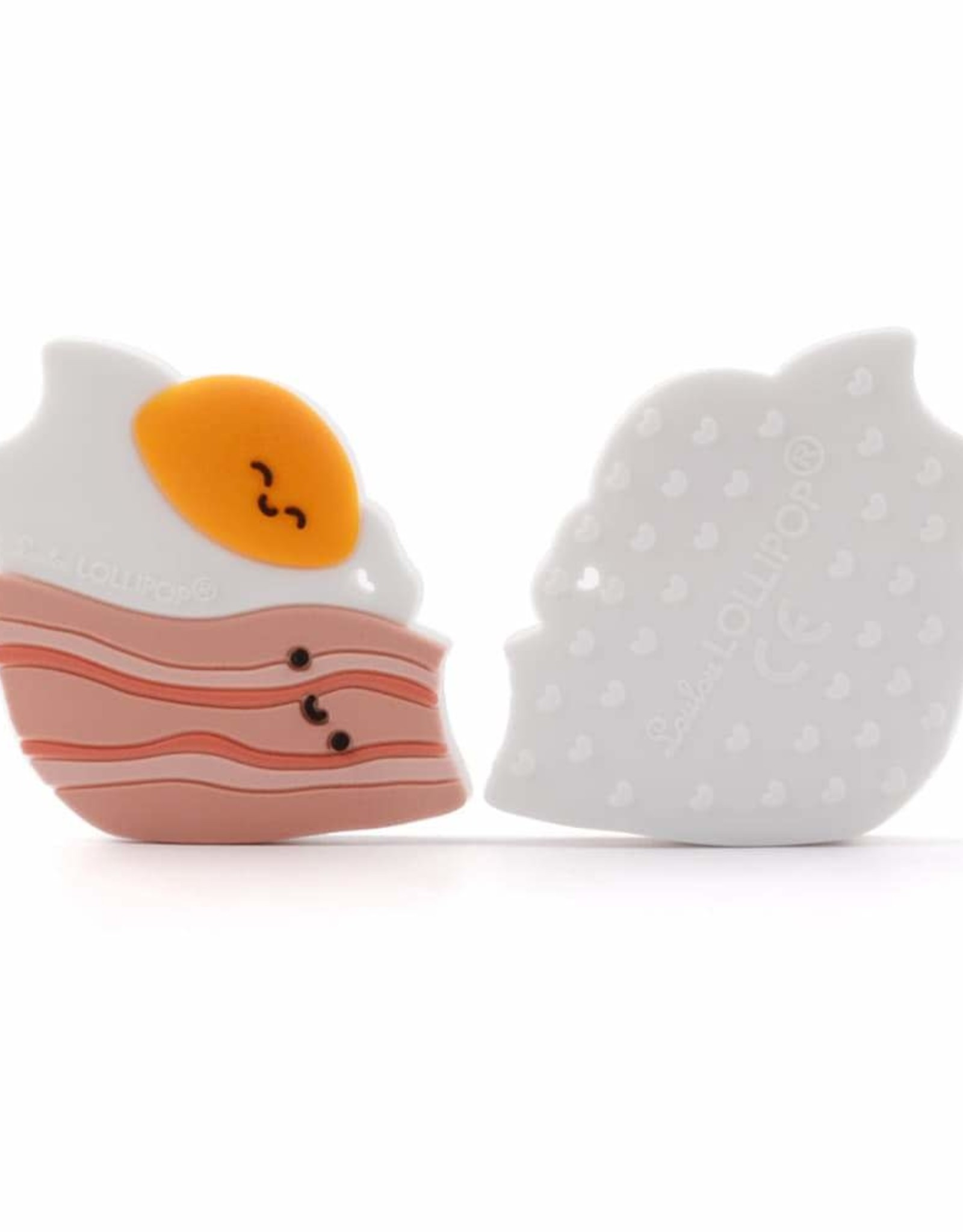 LouLou Lollipop LoulouLOLLIPOP Bacon & Egg Silicone Teether Single