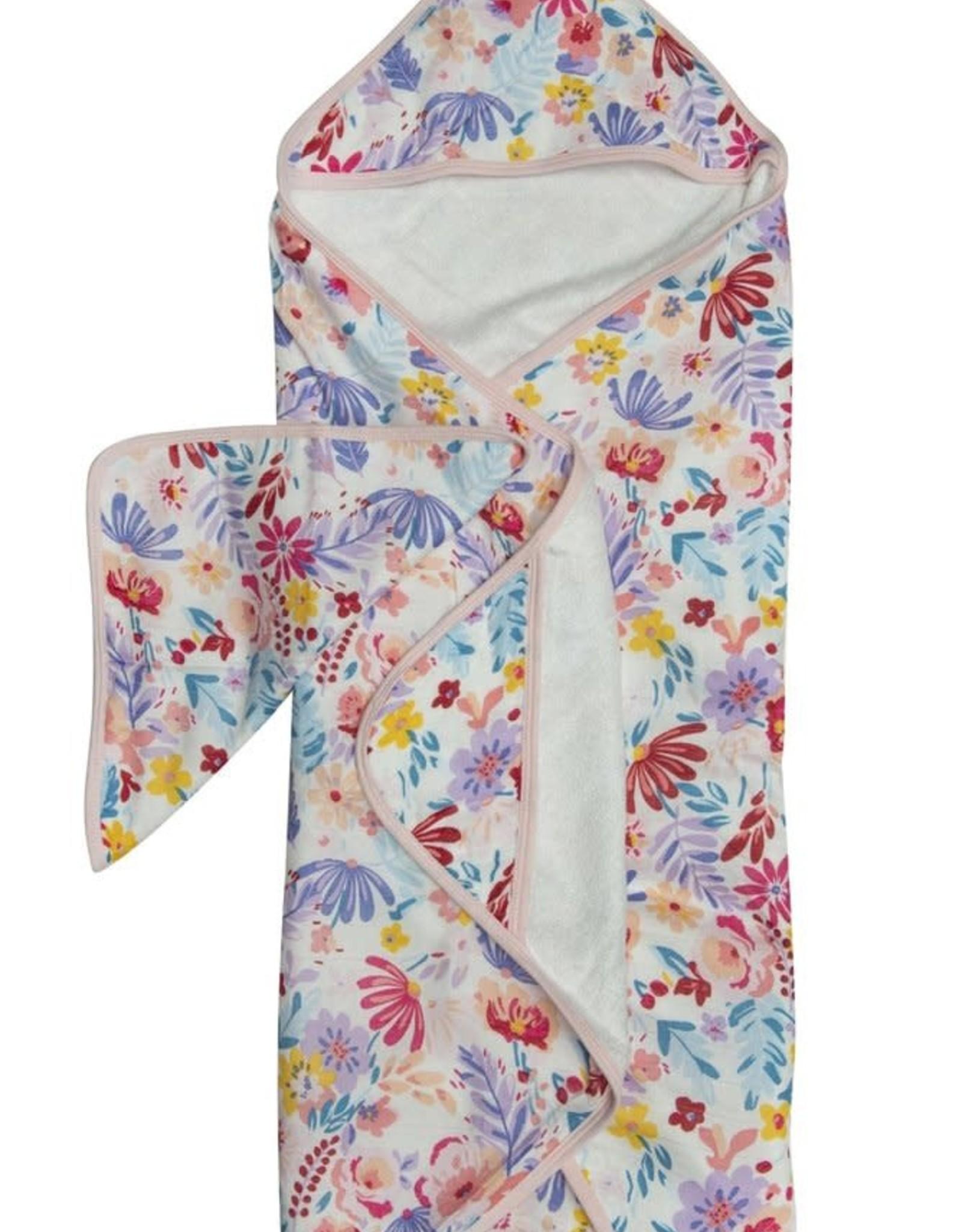 LouLou Lollipop LoulouLOLLIPOP Hooded Towel Light Field Flowers