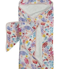 LouLou Lollipop LoulouLOLLIPOP Hooded Towel Light Field Flowers