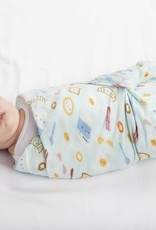 LouLou Lollipop LoulouLOLLIPOP Muslin Swaddle Breakfast Blue
