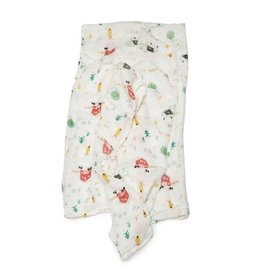 LouLou Lollipop LoulouLOLLIPOP Muslin Swaddle Farm Animals