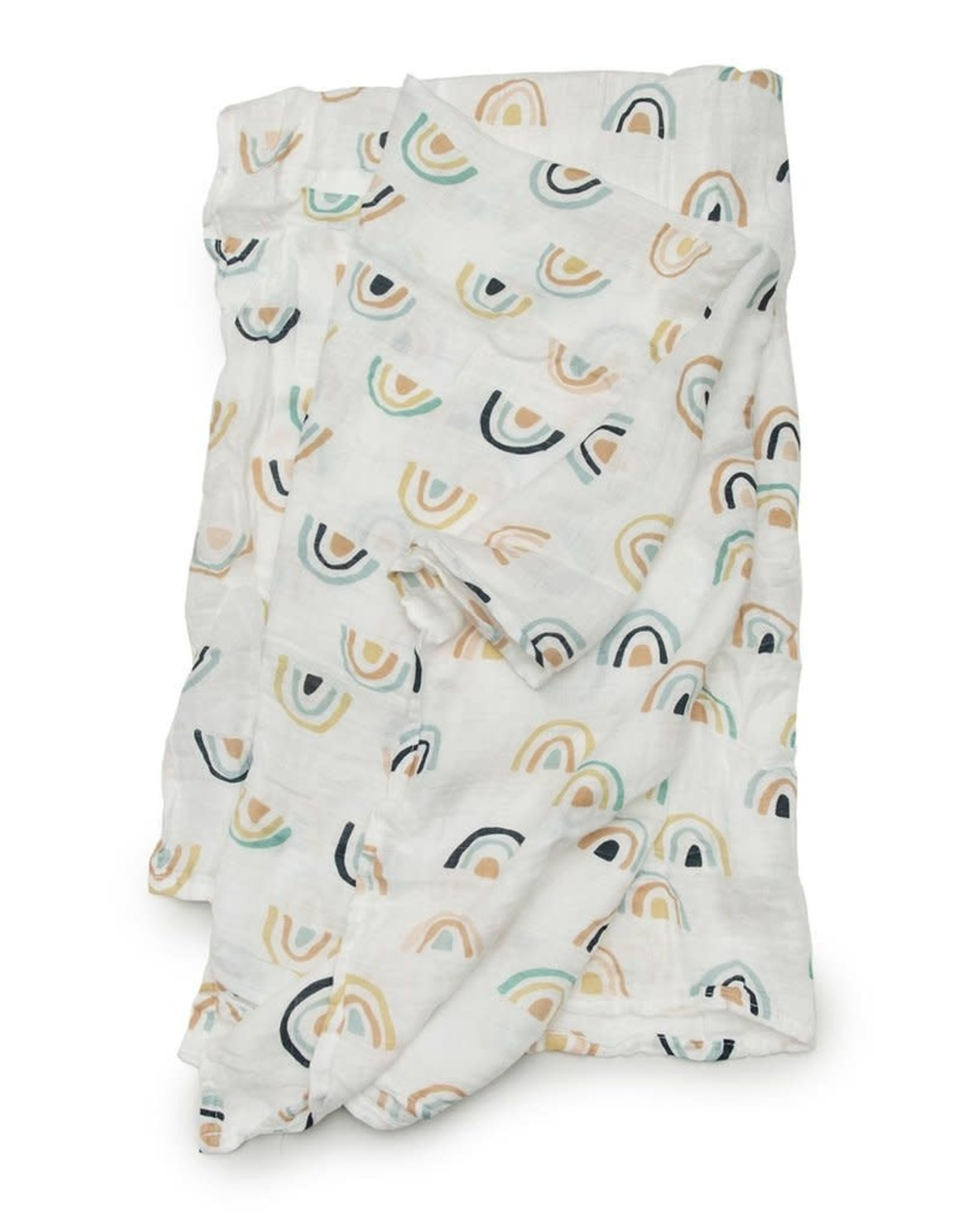 LouLou Lollipop LoulouLOLLIPOP Muslin Swaddle Neutral Rainbows