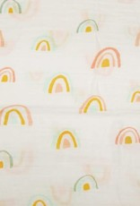 LouLou Lollipop LoulouLOLLIPOP Muslin Swaddle Pastel Rainbows