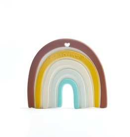 LouLou Lollipop LoulouLOLLIPOP Neutral Rainbow Silicone Teether Single