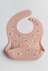 LouLou Lollipop LouLouLOLLIPOP Silicone Bib Printed White Flower