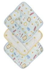 LouLou Lollipop LoulouLOLLIPOP Washcloth 3-Pieces Set Breakfast Blue