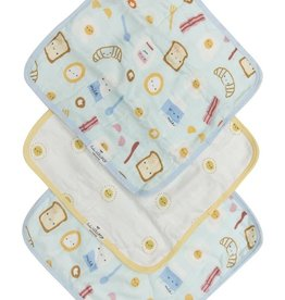 LouLou Lollipop LoulouLOLLIPOP Washcloth 3-Pieces Set Breakfast Blue