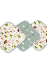 LouLou Lollipop LoulouLOLLIPOP Washcloth 3-Pieces Set Forest Friends