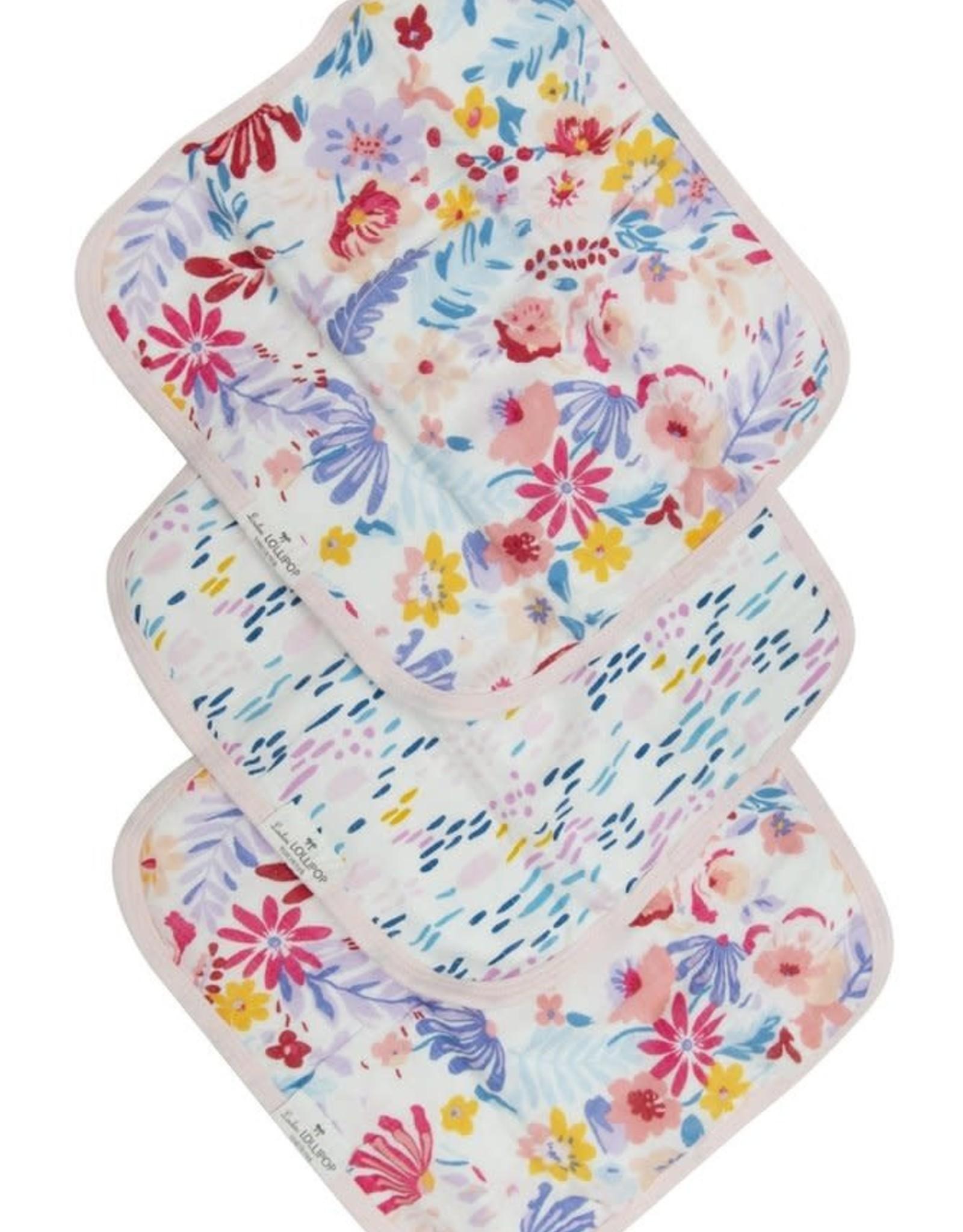 LouLou Lollipop LoulouLOLLIPOP Washcloth 3-Pieces Set Light Field Flowers