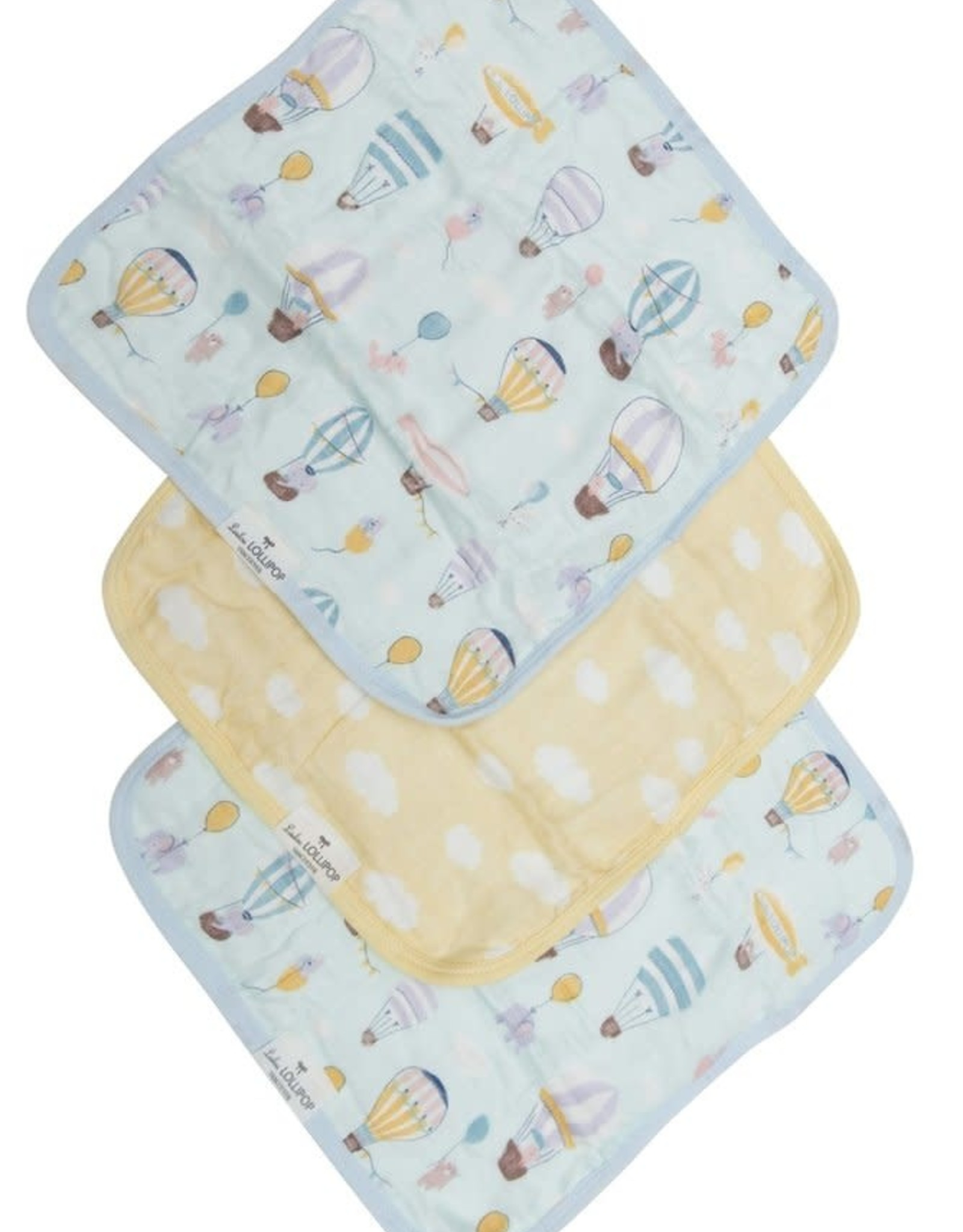 LouLou Lollipop LoulouLOLLIPOP Washcloth 3-Pieces Set Up Up Away