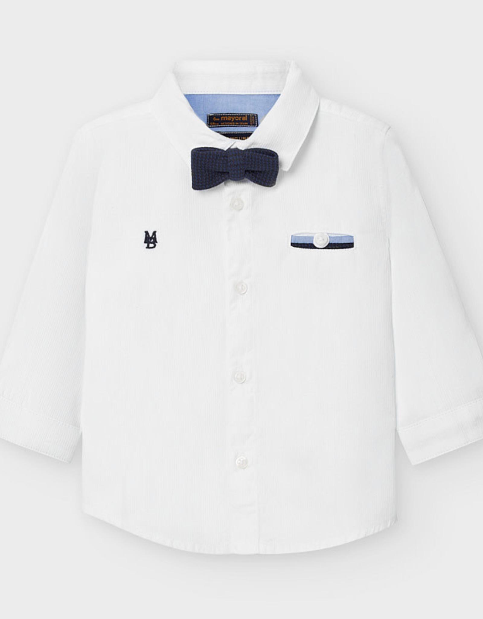 Mayoral Mayoral Long Sleeve Dress Shirt W/ Bow