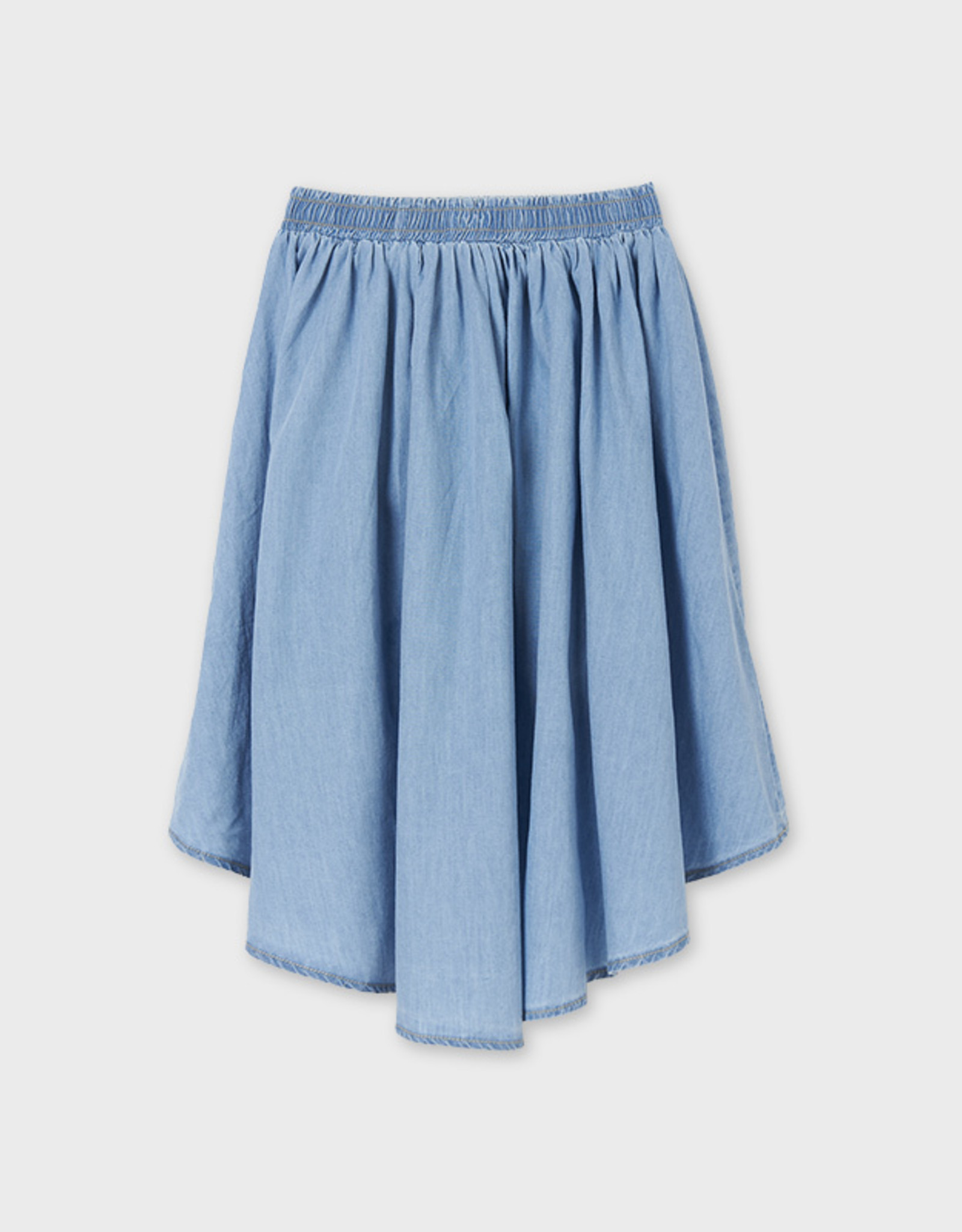 Mayoral Mayoral High Low Denim Skirt