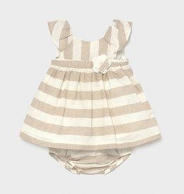 Mayoral Mayoral Baby Girl Linen Stripes Dress