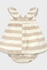 Mayoral Mayoral Baby Girl Linen Stripes Dress