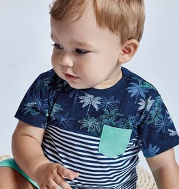 Mayoral Mayoral Baby Boy Stripe  / Palm Tree  T-Shirt