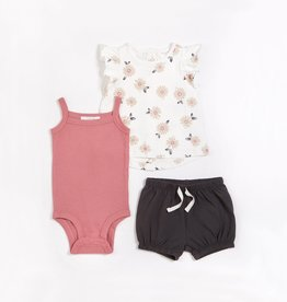 Petit Lem Petit Lem Firsts 3pc Baby Set Marguerite