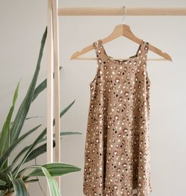 Jax & Lennon Jax & Lennon Youth Crossback Dress Leopard