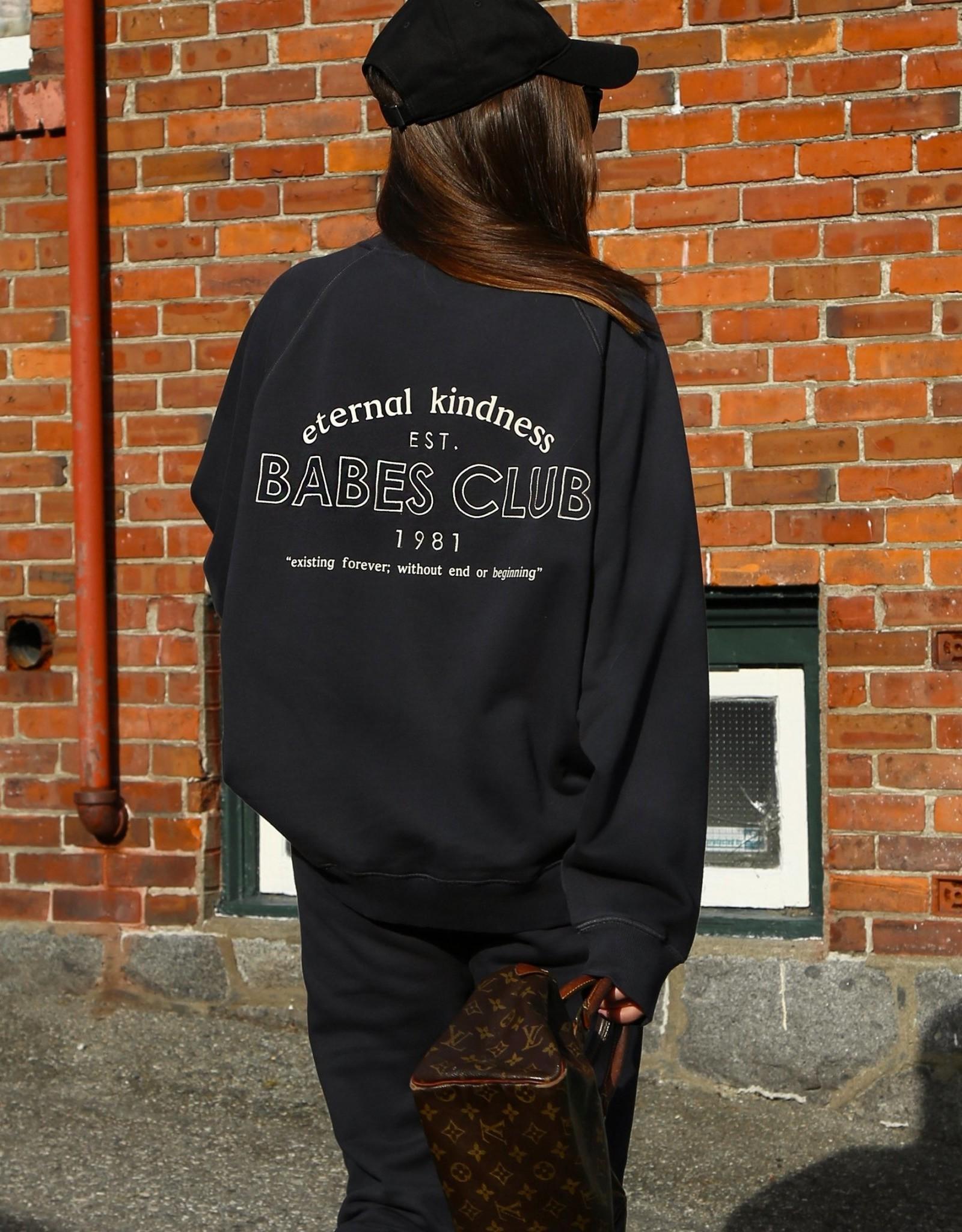 "Brunette The Label Brunette The ""ETERNAL KINDNESS"" Not Your Boyfriend's Crew Neck Sweatshirt | Charcoal"