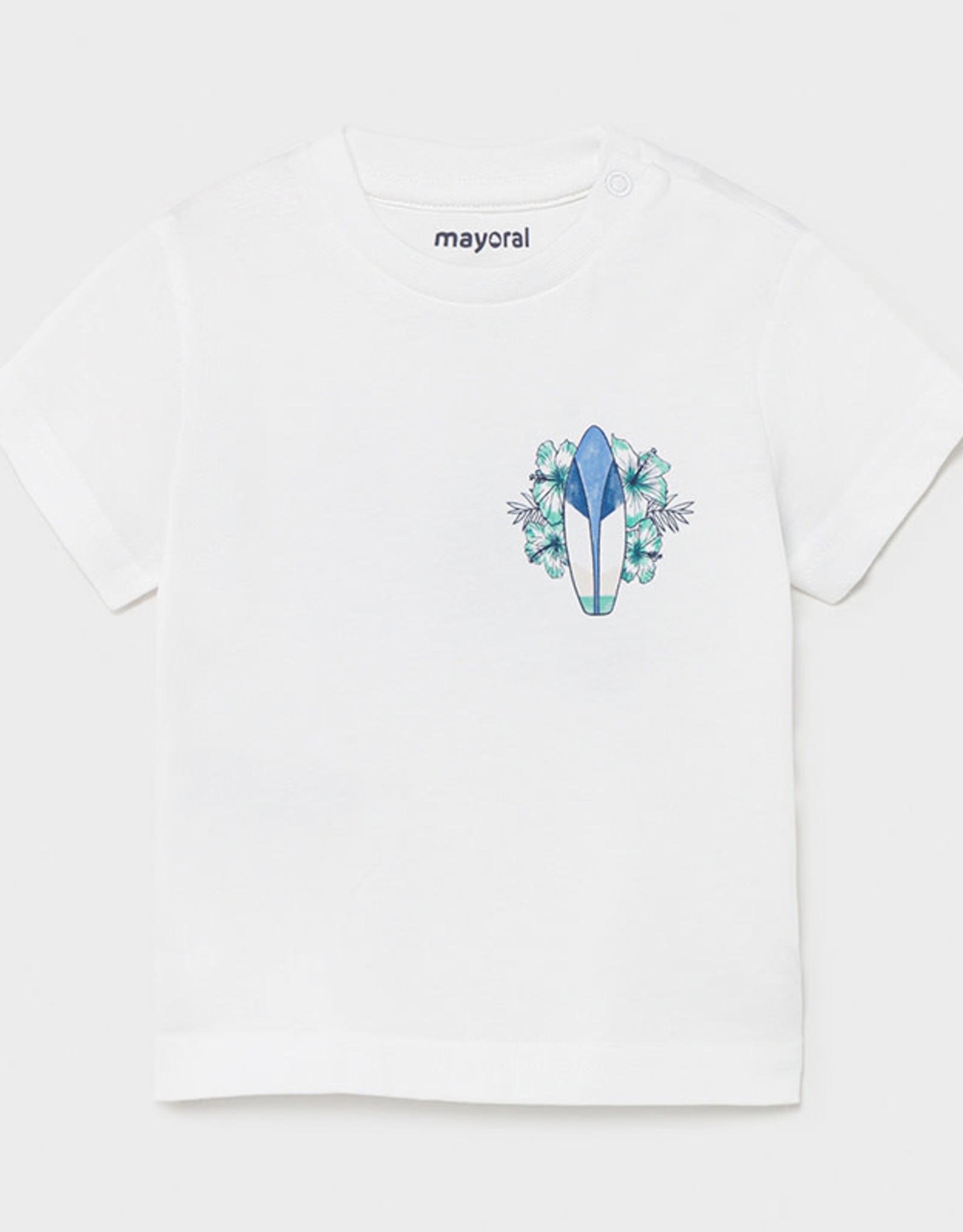 Mayoral Mayoral Baby Boy Short Sleeve Surf Board Teeshirt