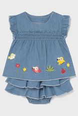 Mayoral Mayoral Baby Girl Denim Birds Baby Girl Set
