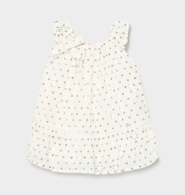 Mayoral Mayoral Baby Girl Perforated Dotted Dress