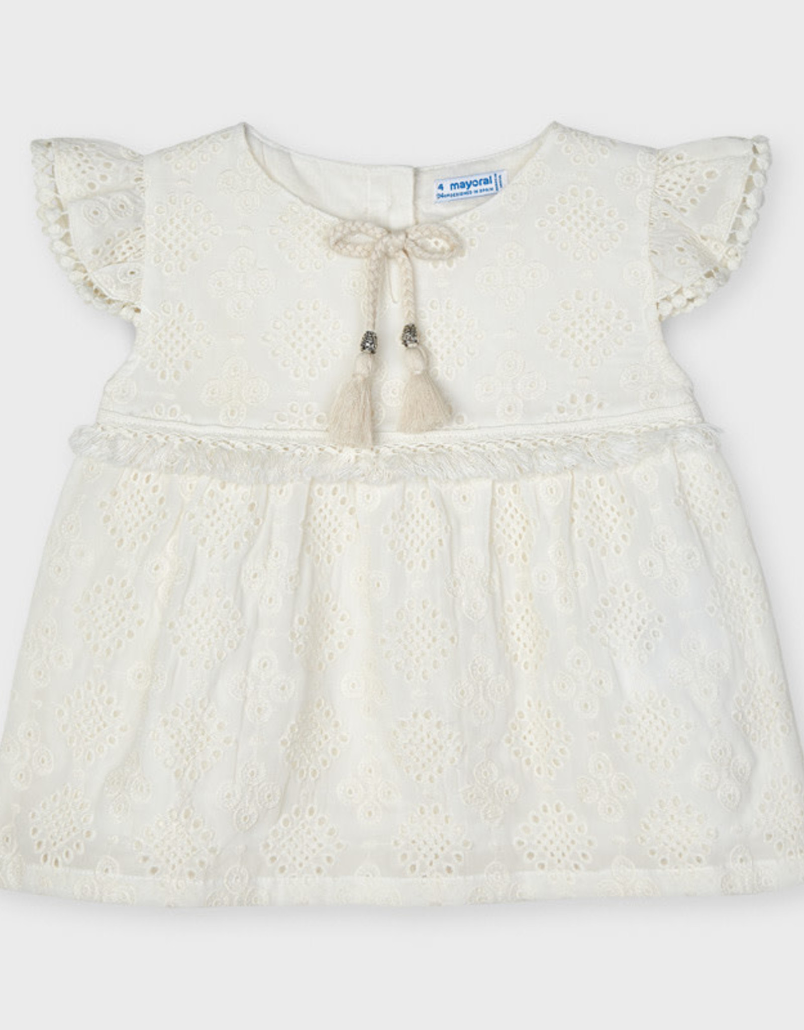 Mayoral Mayoral Girl Embroidered Chiffon Blouse