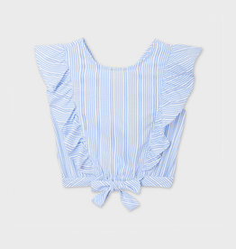 Mayoral Mayoral Striped Bow Blouse
