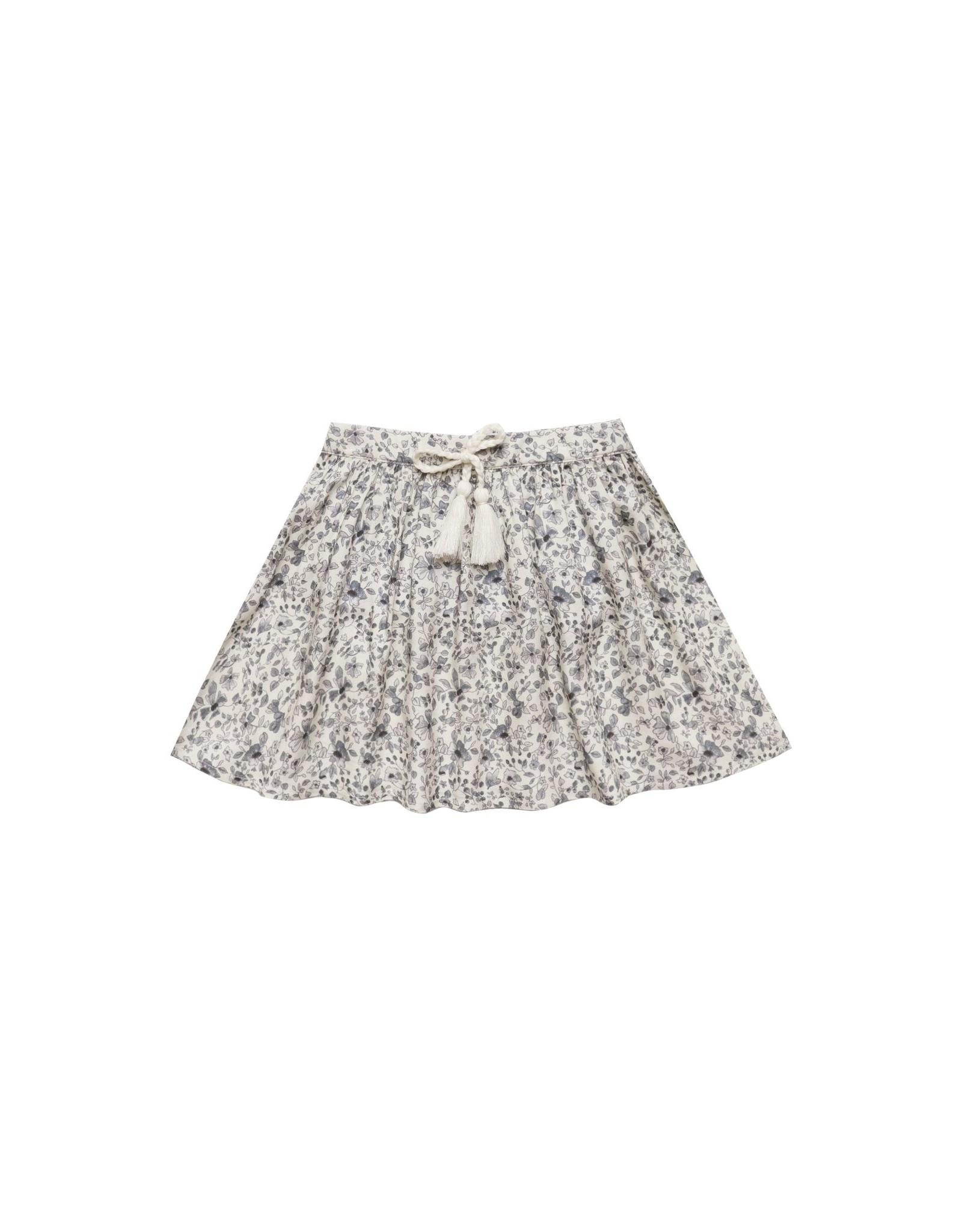 Rylee & Cru Rylee & Cru Blue Floral Mini Skirt