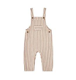 Rylee & Cru Rylee & Cru Natural Stripe Baby Overalls