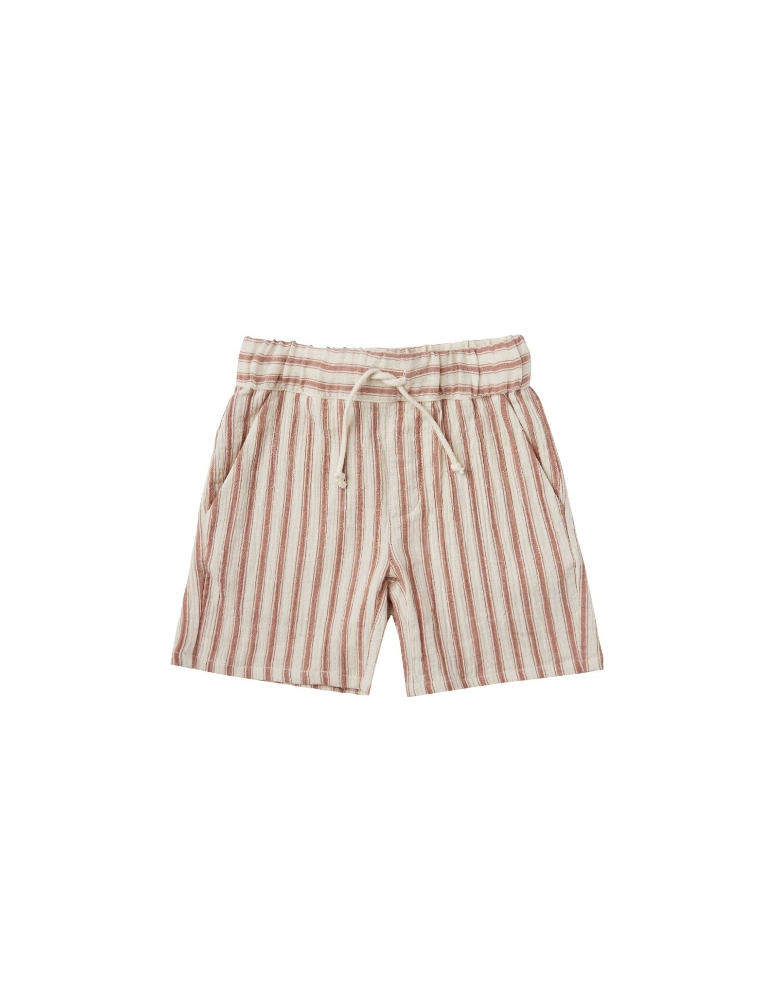 Rylee & Cru Rylee & Cru Natural Stripe Bermuda Shorts