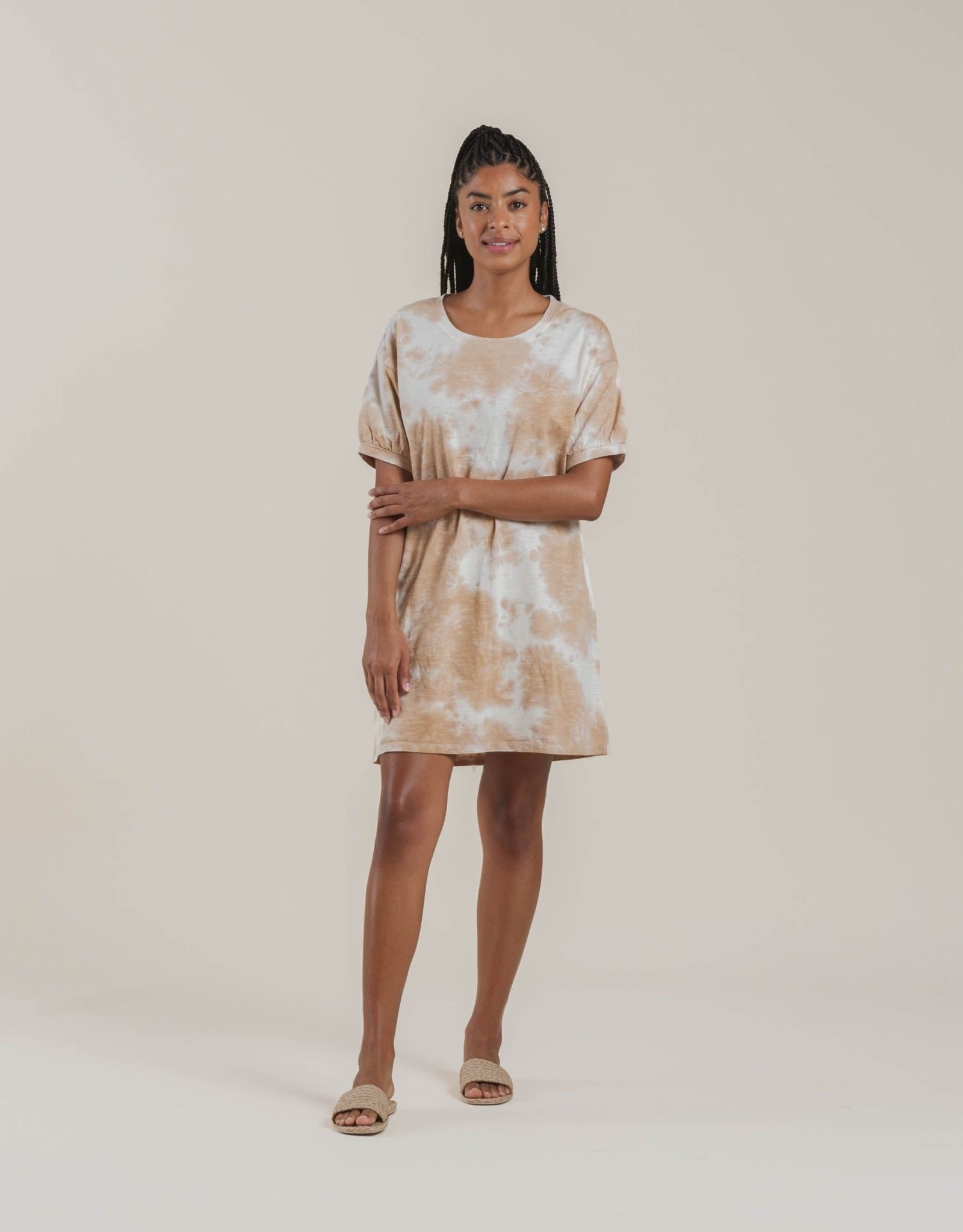 Rylee & Cru Rylee & Cru Womens Shirt Dress Tie Dye