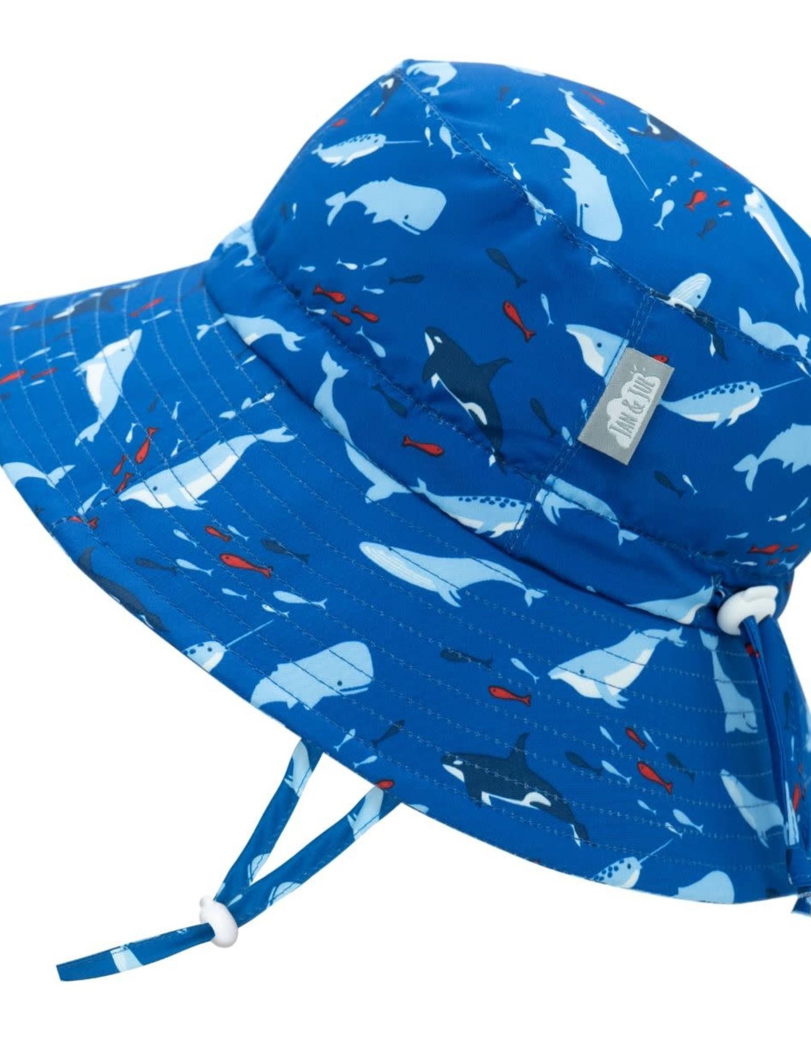Jan & Jul Jan & Jul Whale Play Aqua Dry Bucket Hat
