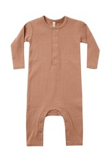 Quincy Mae Quincy Mae Ribbed Baby Jumpsuit Terracota