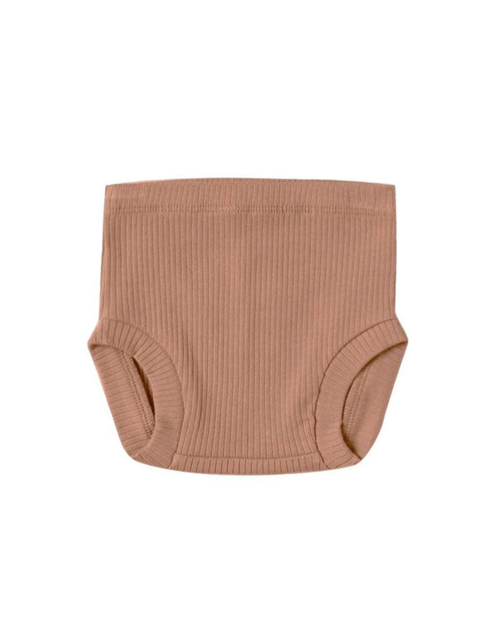 Quincy Mae Quincy Mae Ribbed Bloomer Terracota
