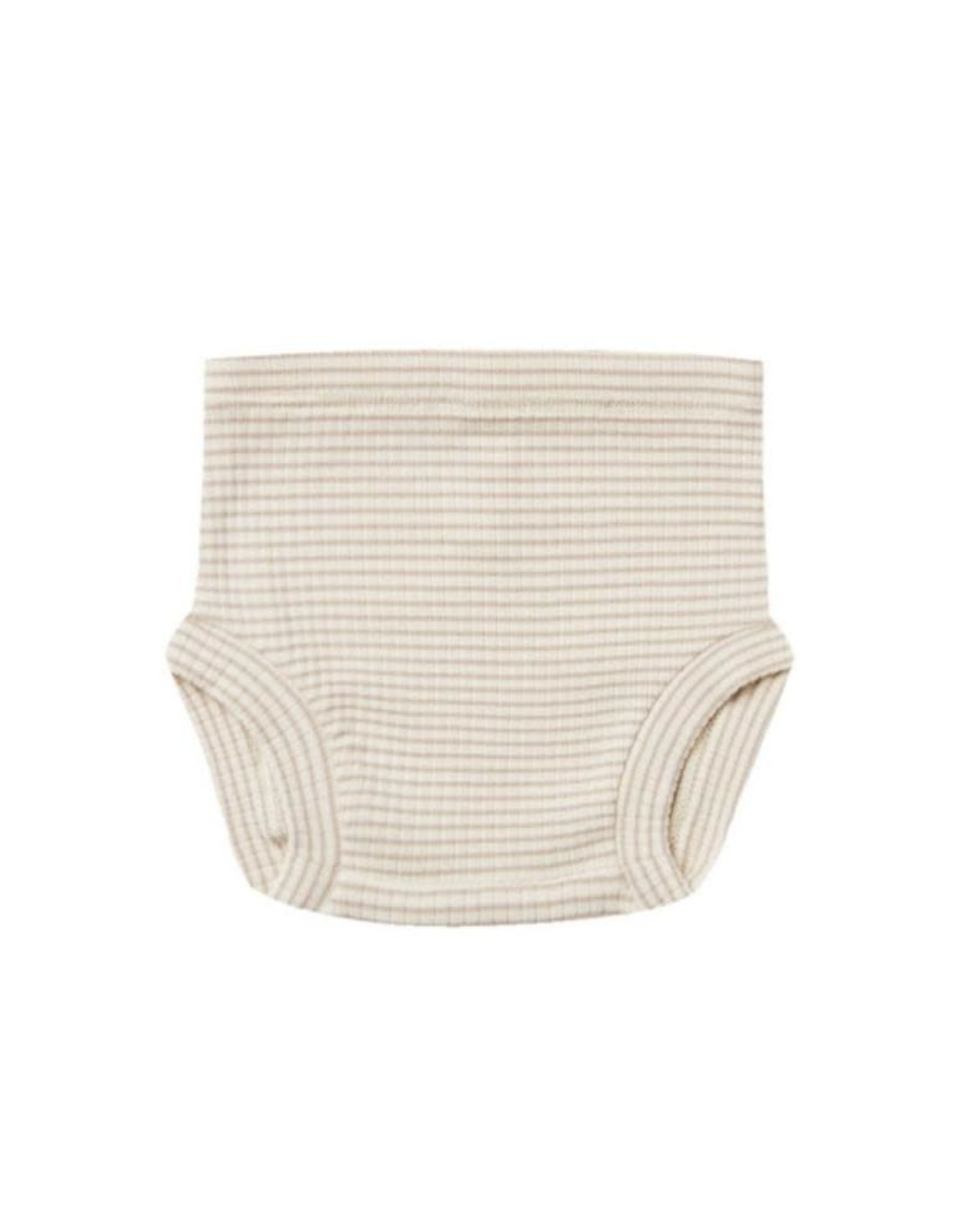 Quincy Mae Quincy Mae Ribbed Bloomer Ash Stripe