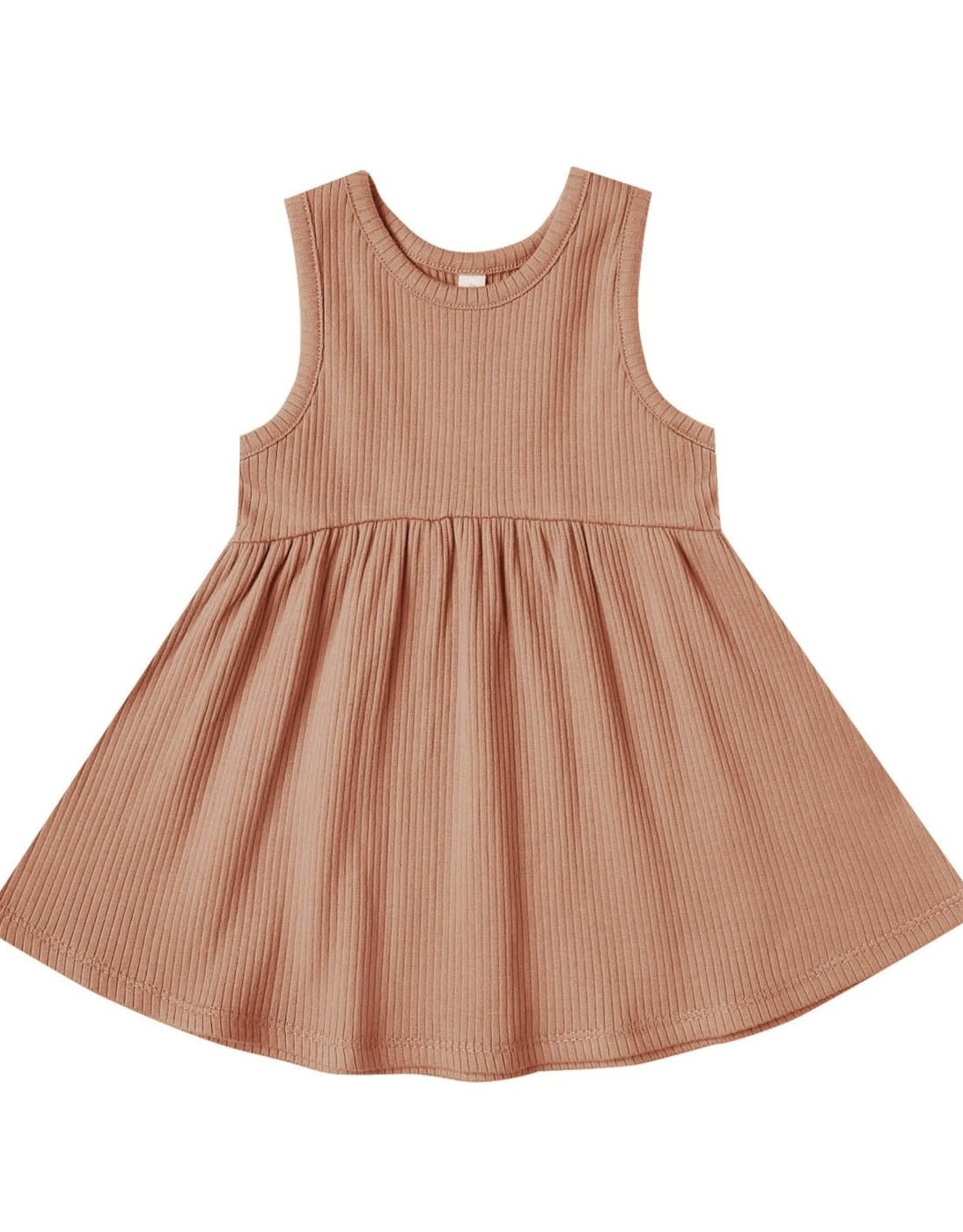 Quincy Mae Quincy Mae Ribbed Tank Dress Terracota