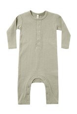 Quincy Mae Quincy Mae Ribbed Baby Jumpsuit Sage