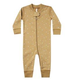 Quincy Mae Quincy Mae Zip Long Sleeve Sleeper Gold