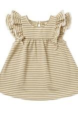 Quincy Mae Quincy Mae Flutter Dress Gold Stripe