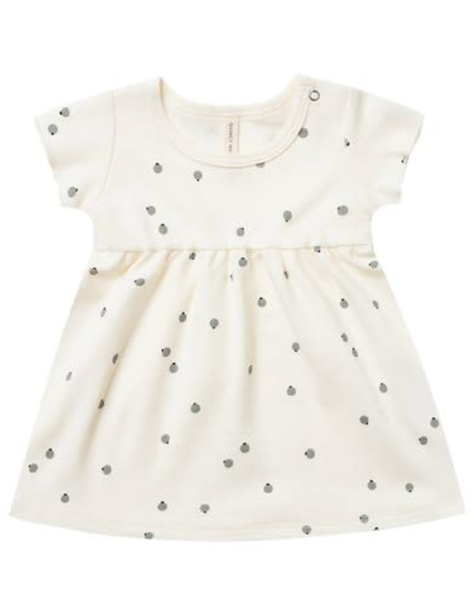 Quincy Mae Quincy Mae Short Sleeve Baby Dress Ivory / Pears