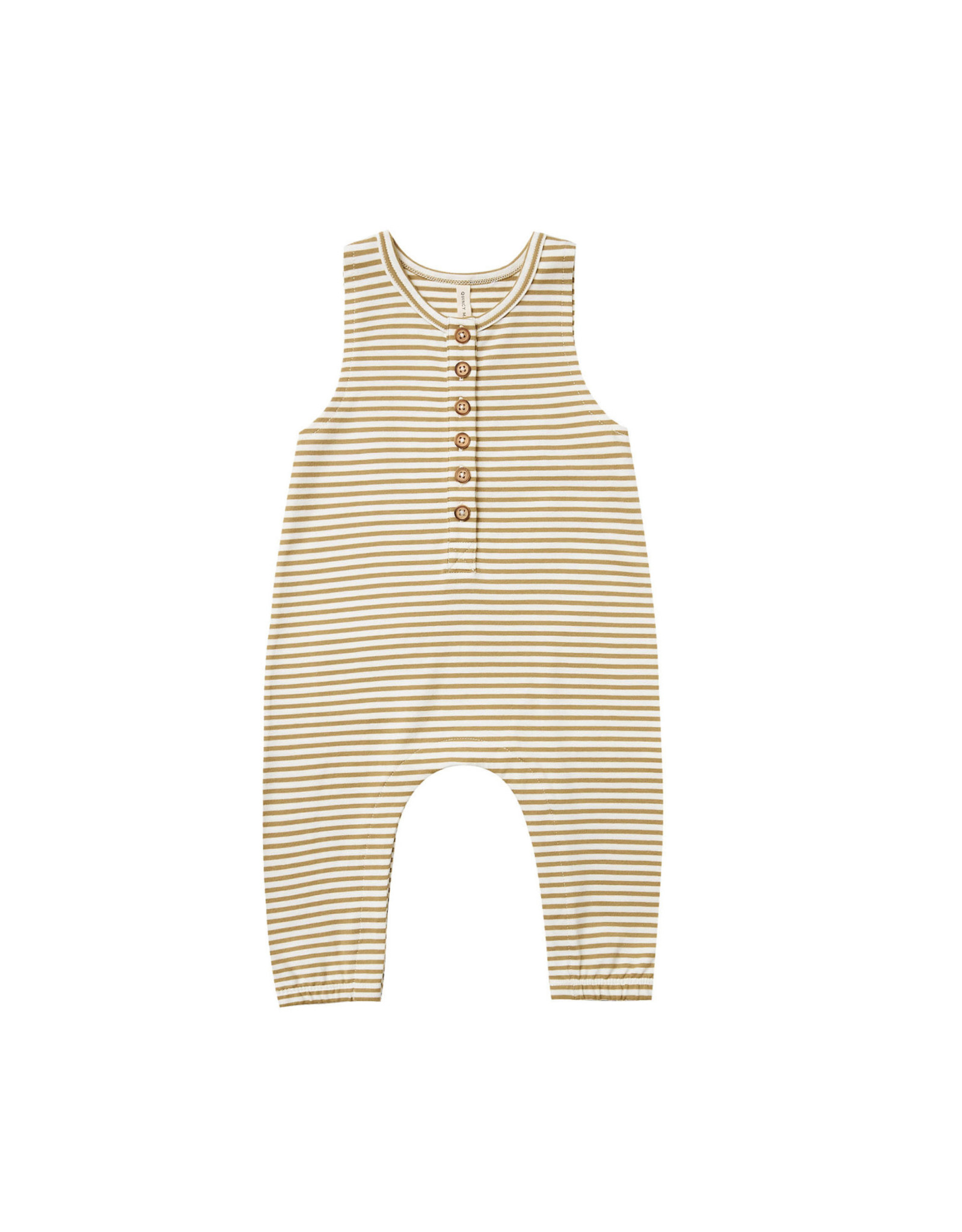 Quincy Mae Quincy Mae Sleeveless Jumpsuit Gold Stripe