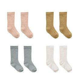Quincy Mae Quincy Mae Baby Socks Ivory, Ocean, Petal, Gold
