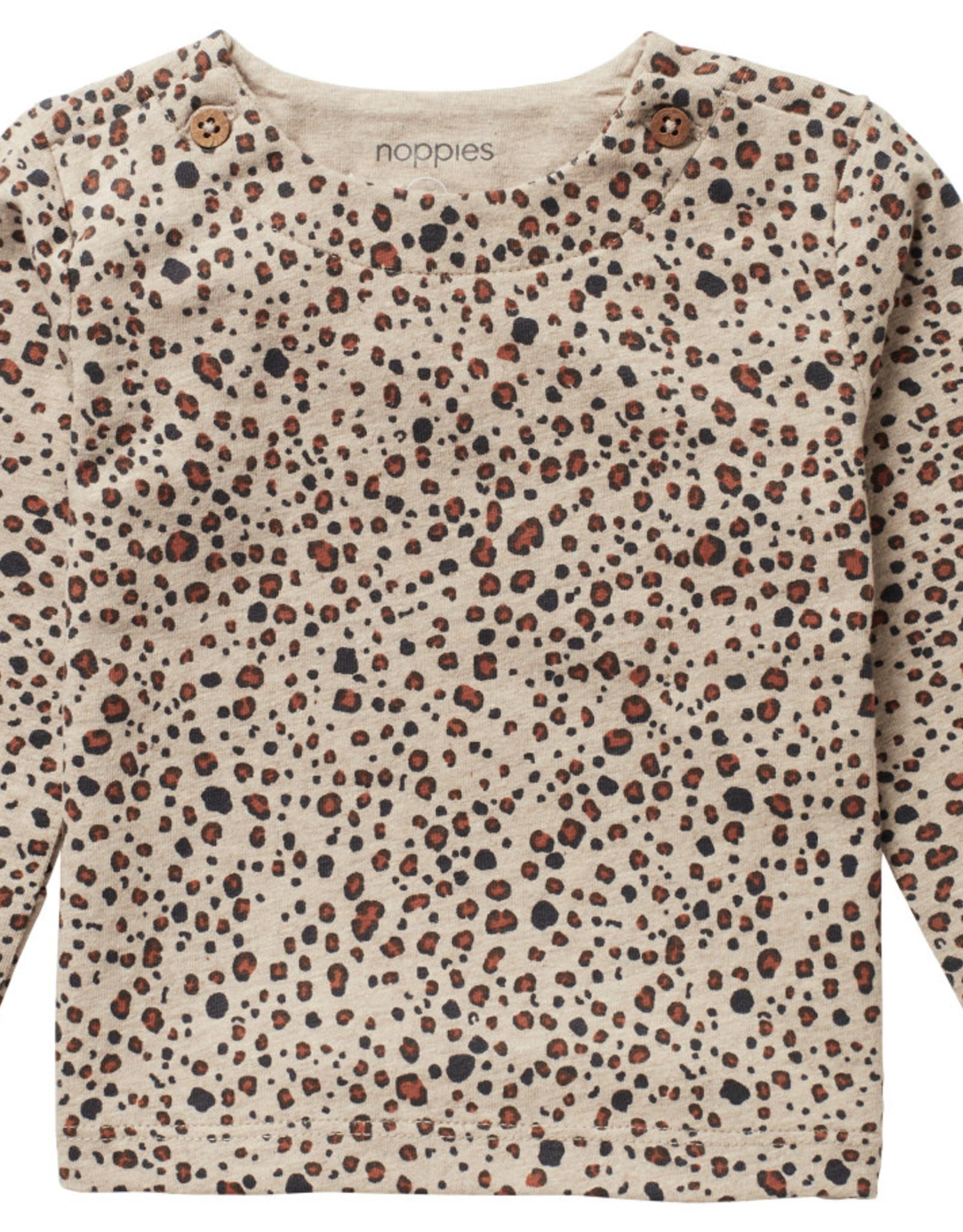 Noppies Noppies Long Sleeve Stanley T-Shirt Sand Melange