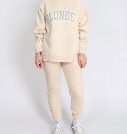 "Brunette The Label Brunette The Label ""BLONDE"" Not Your Boyfriend's Crew | French Vanilla"