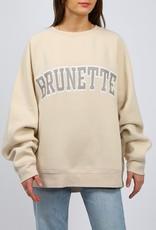 "Brunette The Label Brunette The Label ""BRUNETTE"" Not Your Boyfriend's Crew  French Vanilla"