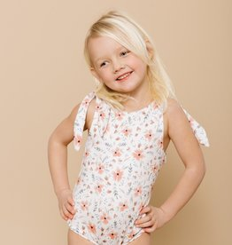 Imagine Perry Imagine Perry Girls Shoulder Tie Onepiece Floral