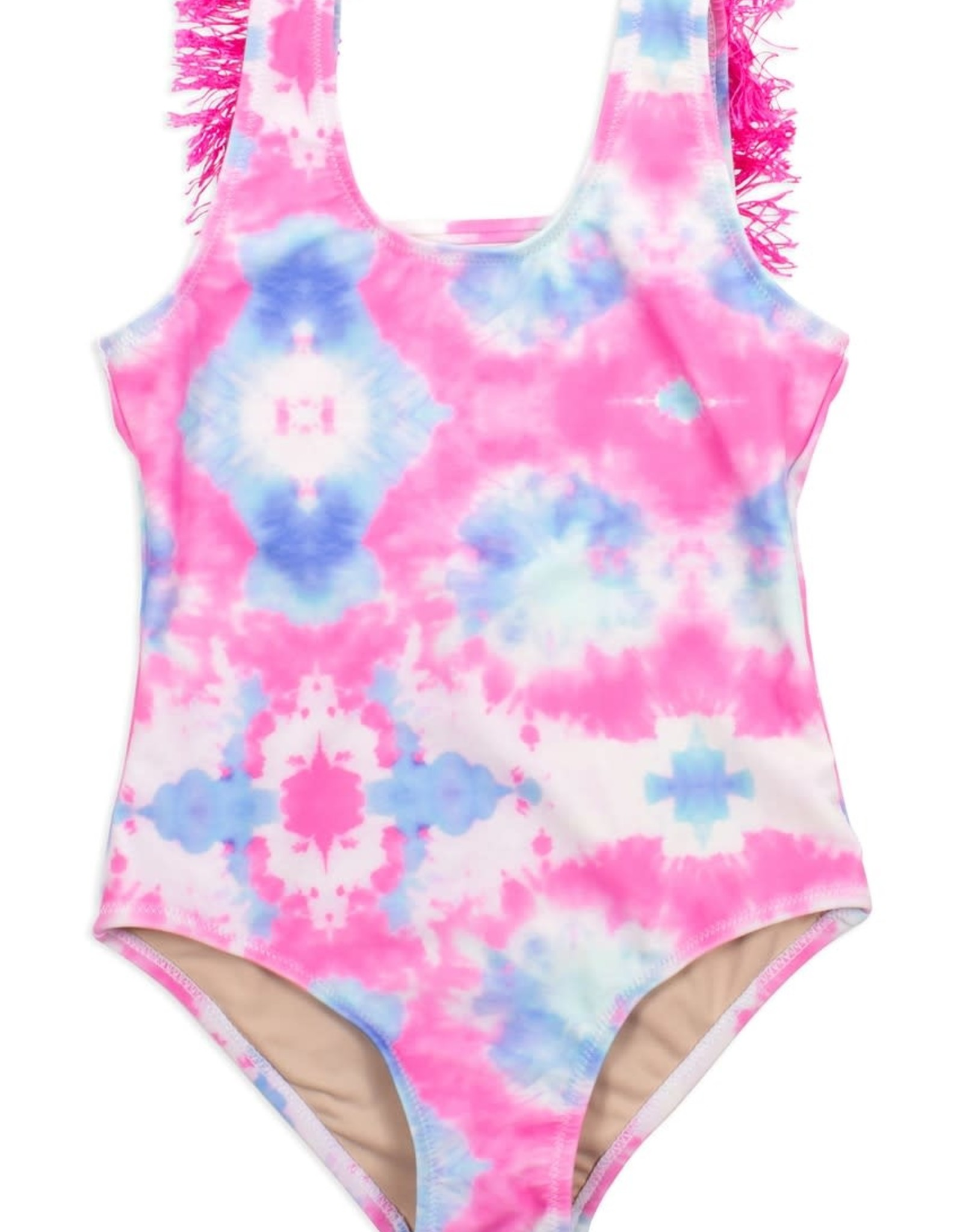 Shade Critters Shade Critters Fringe Back One Piece Cotton Candy Tie Dye