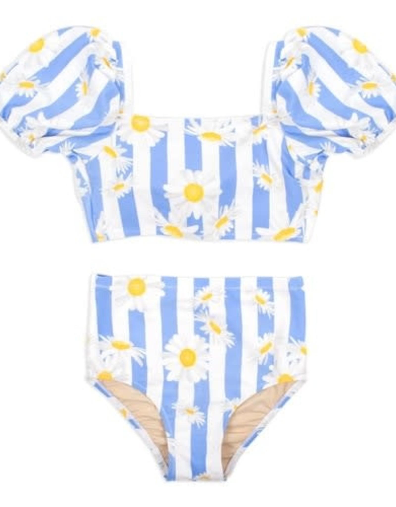 Shade Critters Shade Critters High Waisted Bikini Daisy Stripe