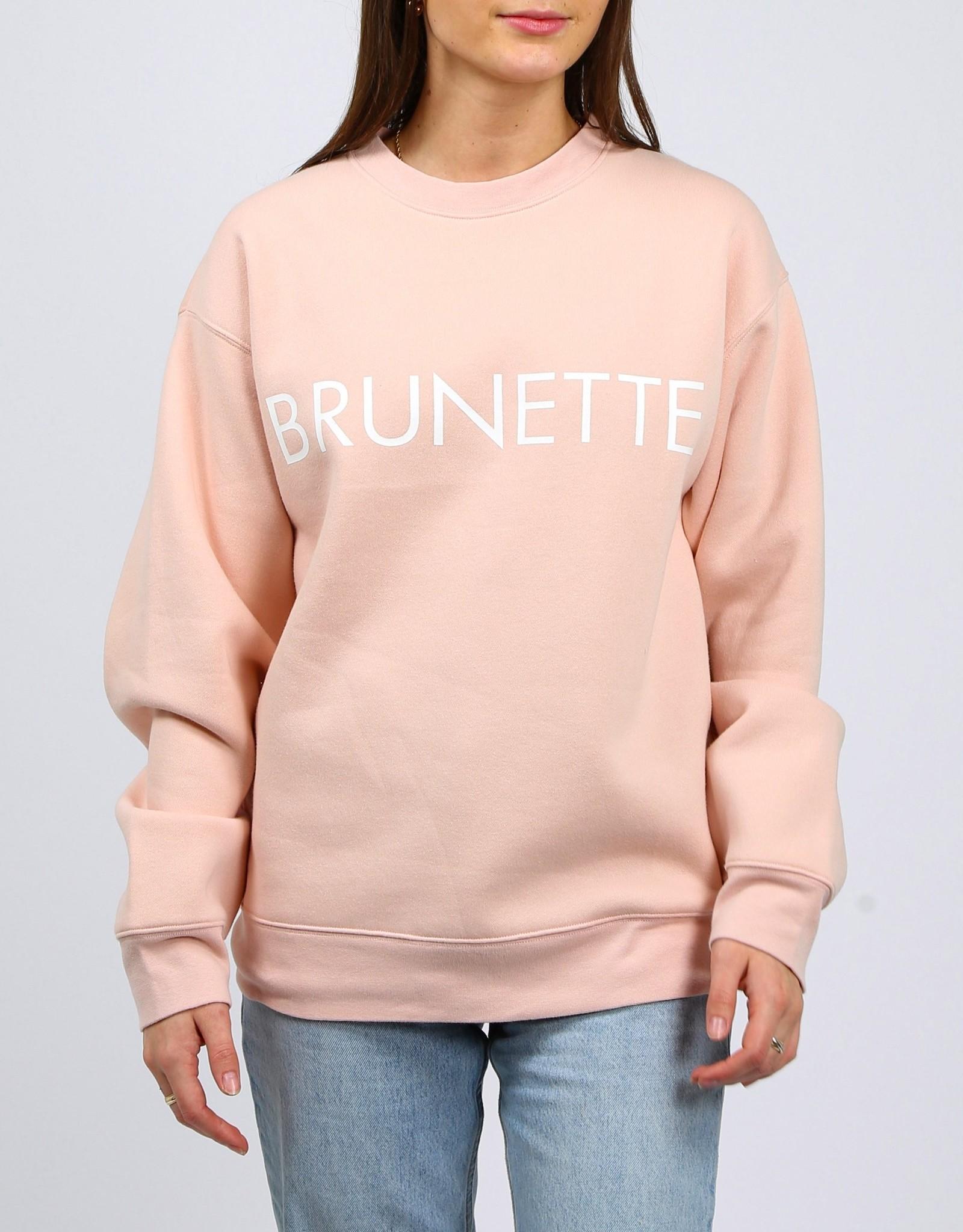 """Brunette The Label Brunette The Label """"BRUNETTE"""" Core Crew Peach Cream"""